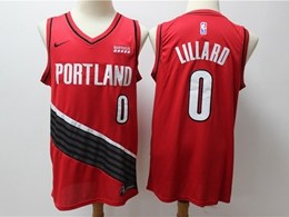 Mens New Nba Portland Trail Blazers #0 Damian Lillard Red Nike Swingman Jersey