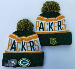 Mens Nfl Green Bay Packers Green&yellow New Sport Knit Hats