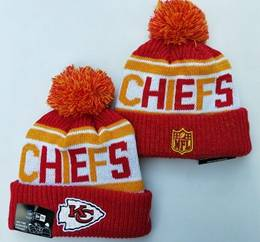 Mens Nfl Kansas City Chiefs Red&yellow New Sport Knit Hats
