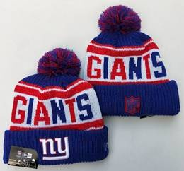 Mens Nfl New York Giants Red&blue New Sport Knit Hats