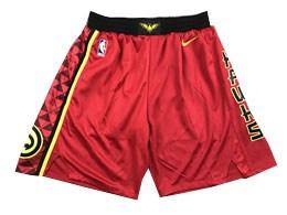 Mens Nba Atlanta Hawks Red Nike Shorts