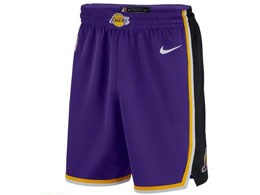 Mens Nba Los Angeles Lakers Purple Nike 2018-19 Shorts