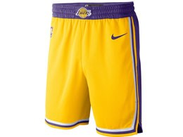 Mens Nba Los Angeles Lakers Nike 2018-19 Gold Shorts