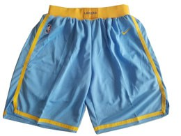 Mens Nba Los Angeles Lakers Nike Light Blue Shorts