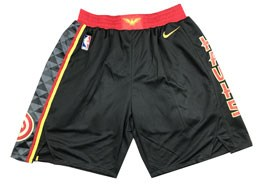 Mens Nba Atlanta Hawks Black Nike Shorts