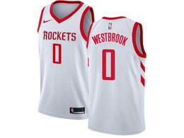 Mens 2019-20 Nba Houston Rockets #0 Russell Westbrook White Nike Swingman Jersey