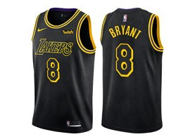 Mens Nba Los Angeles Lakers #8 Kobe Bryant Black Nike City Authentic Jersey