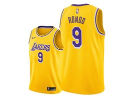Mens Nba Los Angeles Lakers #9 Rajon Rondo 2018-19 Gold Swingman Jersey