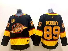 Mens Nhl Vancouver Canucks #89 Alexander Mogilny Black Adidas 50th Jersey