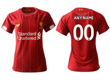 Women 19-20 Soccer Liverpool Club ( Custom Made ) Red Home Short Sleeve Suit Jersey