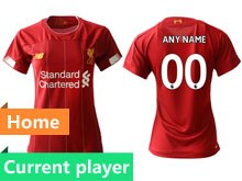 Women 19-20 Soccer Liverpool Club Current Player Red Home Short Sleeve Suit Jersey