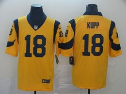 Mens Nfl Los Angeles Rams #18 Cooper Kupp Gold Vapor Untouchable Limited Jersey