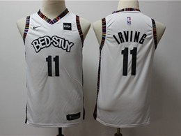 Youth 2019-20 Nba Brooklyn Nets #11 Kyrie Irving Bed-stuy White City Edition Nike Jersey