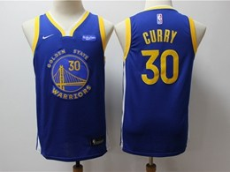 Youth 2019-20 Nba Golden State Warriors #30 Stephen Curry Blue Nike Swingman Jersey