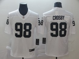 Mens Nfl Oakland Raiders #98 Maxx Crosby White Vapor Untouchable Limited Nike Jerseys