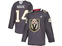 Mens Nhl Vegas Golden Knights #14 Hague Gray Latin Edition Adidas Jersey