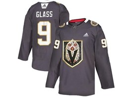 Mens Nhl Vegas Golden Knights #9 Cody Glass Gray Latin Edition Adidas Jersey