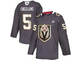 Mens Nhl Vegas Golden Knights #5 Deryk Engelland Gray Latin Edition Adidas Jersey