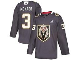 Mens Nhl Vegas Golden Knights #3 Brayden Mcnabb Gray Latin Edition Adidas Jersey