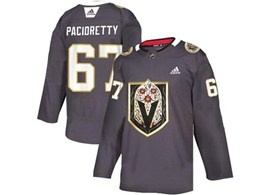 Mens Nhl Vegas Golden Knights #67 Max Pacioretty Gray Latin Edition Adidas Jersey