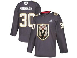 Mens Nhl Vegas Golden Knights #30 Malcolm Subban Gray Latin Edition Adidas Jersey