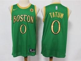 Mens 2019-20 Nba Boston Celtics #0 Jayson Tatum Green City Edition Swingman Jersey