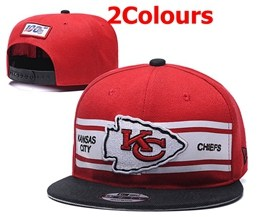 Mens Nfl Kansas City Chiefs Red&black&white 100th Snapbackhats 2 Colors