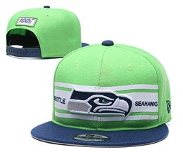 Mens Nfl Seattle Seahawks Green 100th Snapback Adjustable Hats