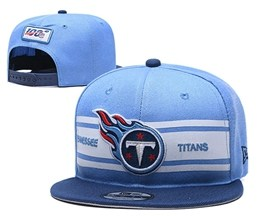 Mens Nfl Tennessee Titans Blue 100th Snapback Adjustable Hats