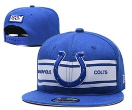 Mens Nfl Indianapolis Colts Blue&white 100th Snapback Adjustable Hats
