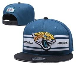 Mens Nfl Jacksonville Jaguars Blue&white 100th Snapback Adjustable Hats