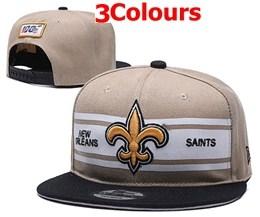 Mens Nfl New Orleans Saints Gray&black 100th Snapback Adjustable Hats 3 Colors