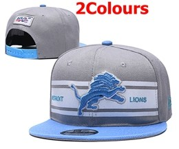 Mens Nfl Detroit Lions Gray&blue 100th Snapback Adjustable Hats 2 Colors