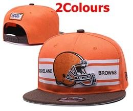 Mens Nfl Cleveland Browns Orange&brown 100th Snapback Adjustable Hats 2 Colors