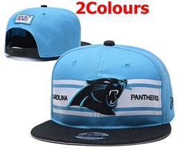 Mens Nfl Carolina Panthers Blue&black 100th Snapback Adjustable Hats 2 Colors