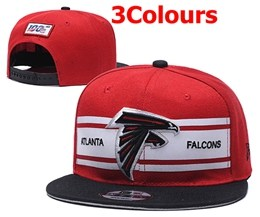 Mens Nfl Atlanta Falcons White&black&red 100th Snapback Adjustable Hats 3 Colors