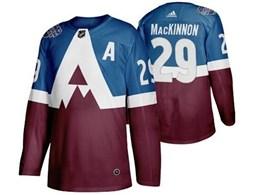 Mens Nhl Colorado Avalanche #29 Nathan Mackinnon Blue 2020 Stadium Series Stitched Adidas Jersey