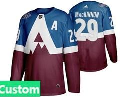 Mens Adidas Colorado Avalanche Custom Made Blue 2020 Stadium Series Stitched Adidas Jersey