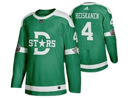 Mens Nhl Dallas Stars #4 Miro Heiskanen Green 2019 Winter Classic Adidas Jersey