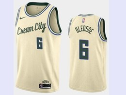 Mens 2019-20 Nba Milwaukee Bucks #6 Eric Bledsoe Cream City Edition Swingman Jersey