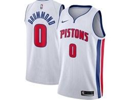 Mens 2019-20 Nba Detroit Pistons #0 Andre Drummond White Nike Swingman Jersey