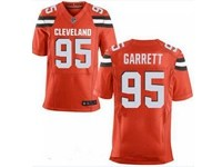 Mens Nfl Cleveland Browns #95 Myles Garrett Orange Elite Jersey