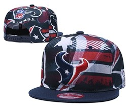 Mens Nfl Houston Texans Multicolour Snapback Adjustable Hats