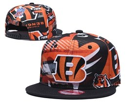 Mens Nfl Cincinnati Bengals Multicolour Snapback Adjustable Hats