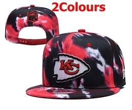 Mens Nfl Kansas City Chiefs Multicolour Snapback Adjustable Hats 2 Colors