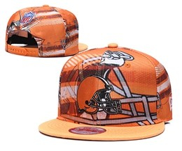 Mens Nfl Cleveland Browns Multicolour Snapback Adjustable Hats
