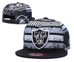 Mens Nfl Oakland Raiders Multicolour Snapback Adjustable Hats