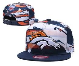 Mens Nfl Denver Broncos Orange Multicolour Snapback Adjustable Hats