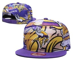 Mens Nfl Minnesota Vikings Multicolour Snapback Adjustable Hats