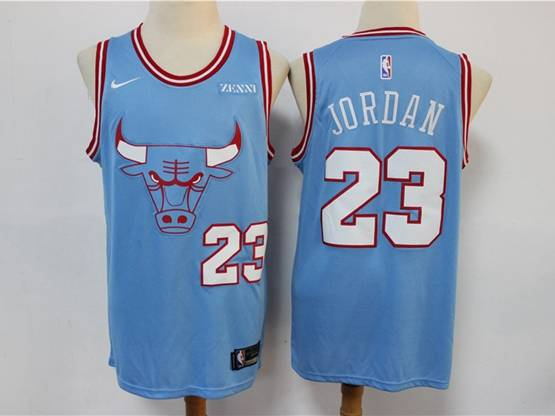 Mens Nba 2019-2020 Chicago Bulls #23 Michael Jordan Light Blue City Edition Nike Swingman Jersey